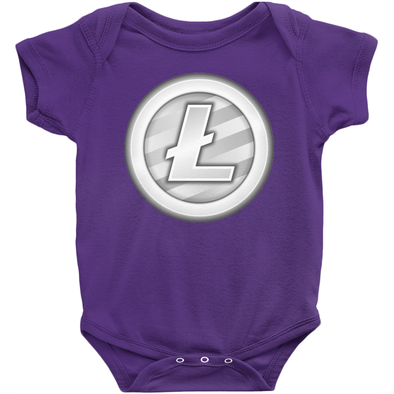 purple litecoin ltc baby infant newborn onesies for sale