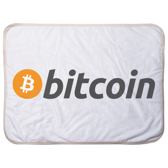 bitcoin btc logo soft infant baby sherpa blanket for sale