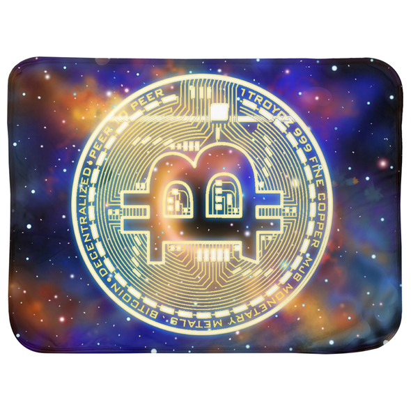 infant baby bitcoin btc space logo sherpa blanket for sale