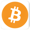 orange bitcoin btc logo on drink and beverage coaster for sale