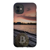 iphone 11 pro bitcoin btc outdoor sunset lake dock phone case for sale
