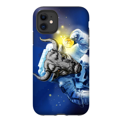 iphone 11 pro bitcoin btc astronaut bull phone case for sale