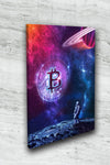 bitcoin space astronaut canvas wall art decoration gift for sale