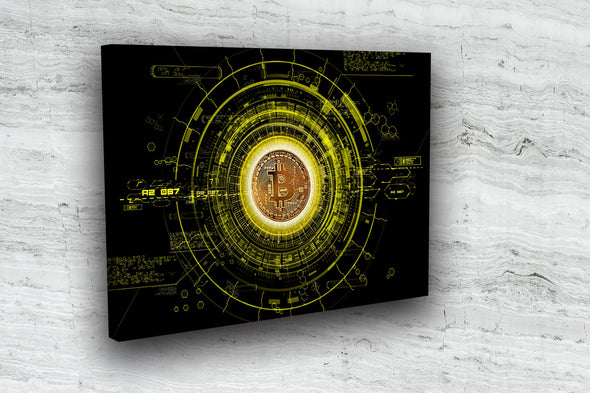 MyCryptoCanvas bitcoin canvas wall art artwork for sale
