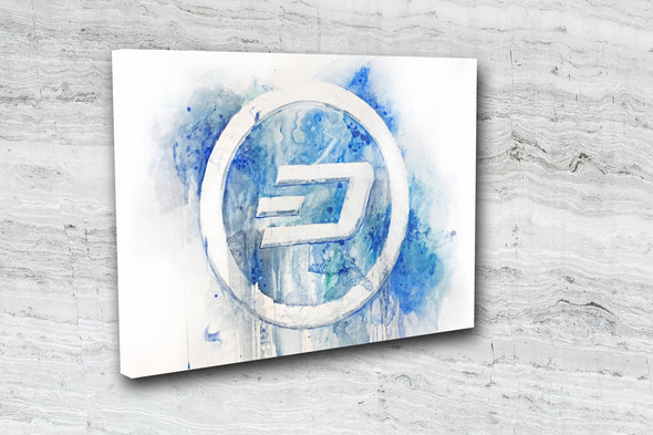 MyCryptoCanvas Dash cryptocurrency canvas wall art artwork for sale