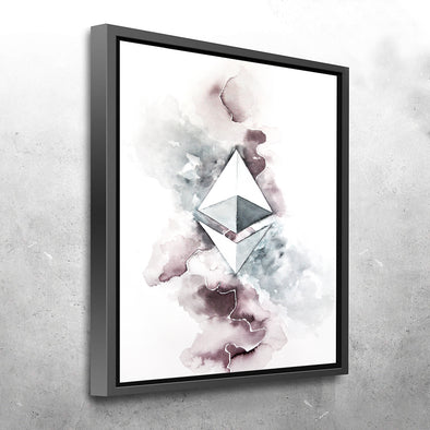 MyCryptoCanvas framed ethereum cryptocurrency canvas wall art artwork for sale