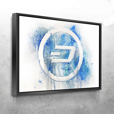 MyCryptoCanvas framed dash cryptocurrency canvas wall art artwork for sale
