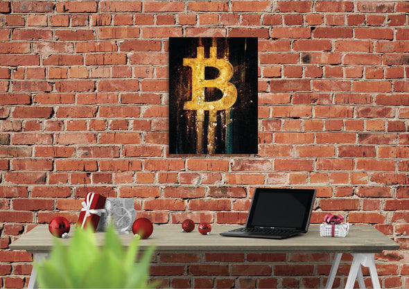 MyCryptoCanvas bitcoin cryptocurrency canvas wall art artwork for sale