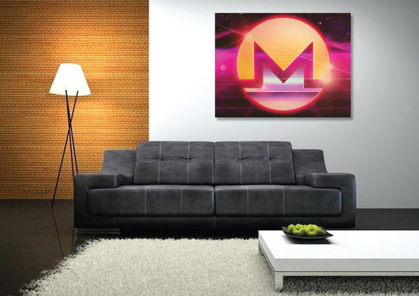 MyCryptoCanvas monero cryptocurrency canvas wall art artwork for sale