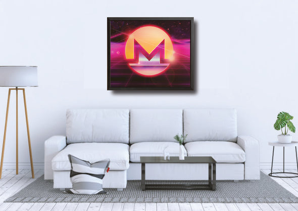 MyCryptoCanvas framed monero cryptocurrency canvas wall art artwork for sale