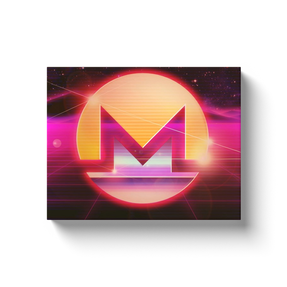 monero canvas wall artwork gift