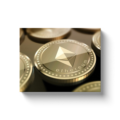 ethereum eth gold cryptocurrency canvas artwork gift for sale