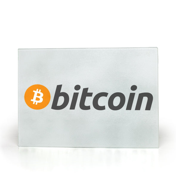 bitcoin btc kitchen glass cutting board