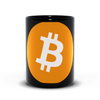 black bitcoin btc coffee mugs for sale