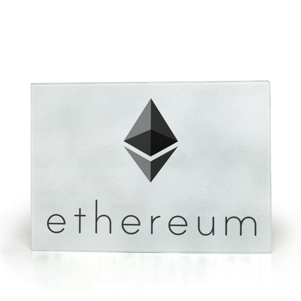 ethereum eth glass cutting board for the kitchen
