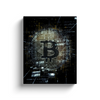 bitcoin btc b black canvas artwork home office for sale