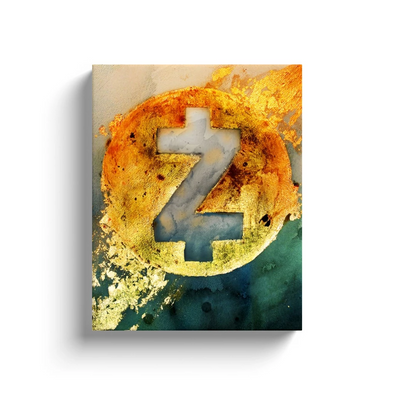 zcash cryptocurrency canvas wall art gift for sale