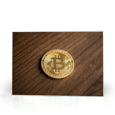 wood look bitcoin btc glass cutting board for kitchen
