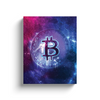 bitcoin btc space stars galaxy canvas wall artwork gift for sale