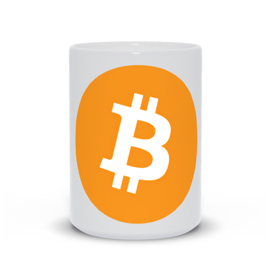 white bitcoin btc 15oz coffee mug for sale