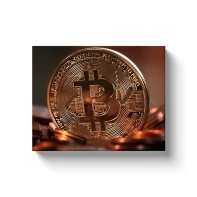 bitcoin btc gold coin canvas wall artwork home and office
