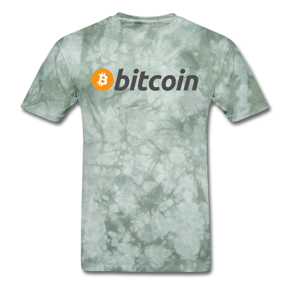Bitcoin T-Shirt - military green tie dye