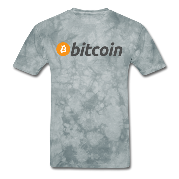Bitcoin T-Shirt - grey tie dye