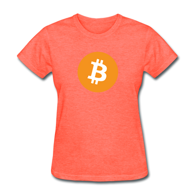 Women's Bitcoin Btc T-Shirt - heather coral