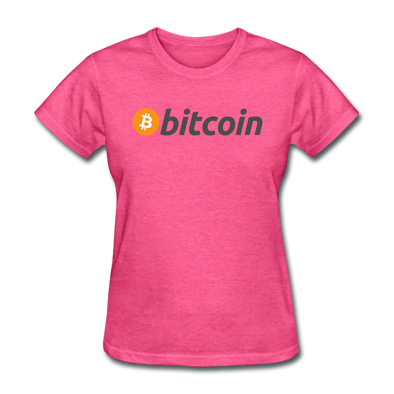 Women's Bitcoin T-Shirt - heather pink