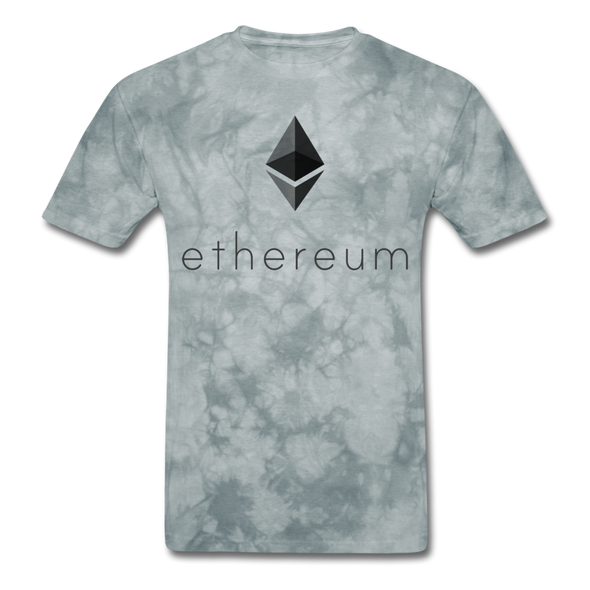 Men's Ethereum eth T-Shirt - grey tie dye