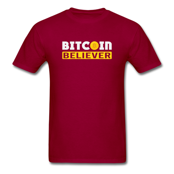 Men's Bitcoin Believer - dark red