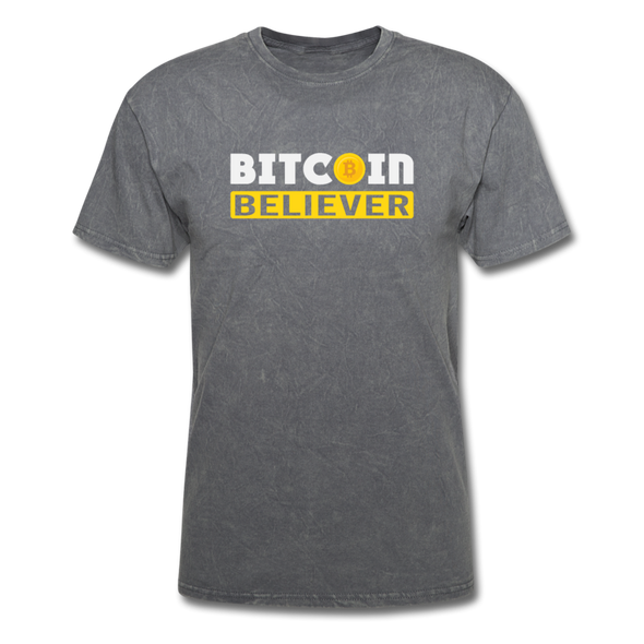 Men's Bitcoin Believer - mineral charcoal gray