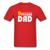 Men's Bitcoin Dad - red