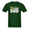 Men's Bitcoin Dad - forest green