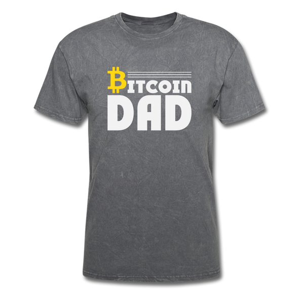Men's Bitcoin Dad - mineral charcoal gray