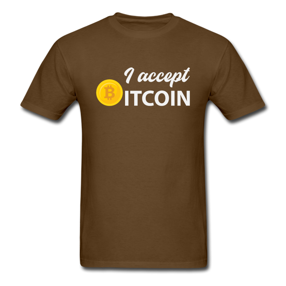 Men's I Accept Bitcoin - brown