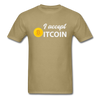Men's I Accept Bitcoin - khaki