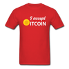 Men's I Accept Bitcoin - red