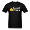 Men's I Accept Bitcoin - black