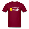 Men's I Accept Bitcoin - burgundy