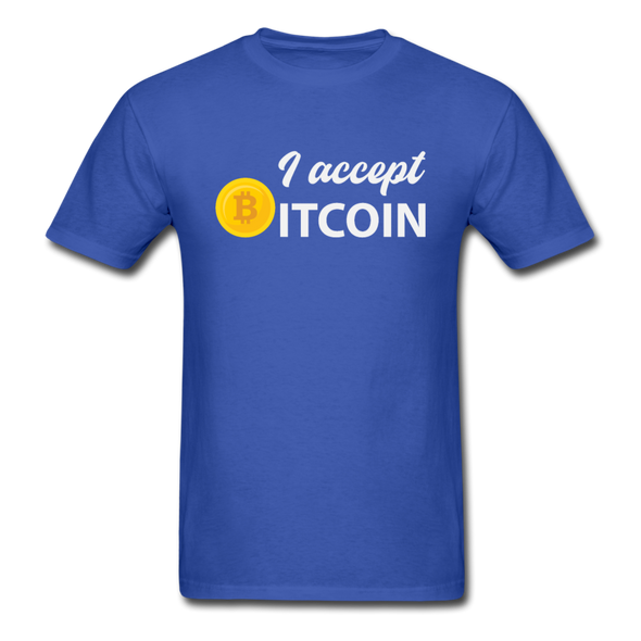 Men's I Accept Bitcoin - royal blue