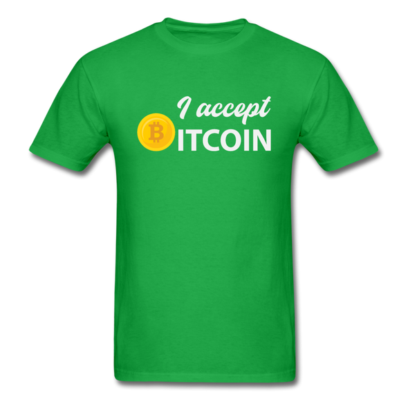 Men's I Accept Bitcoin - bright green