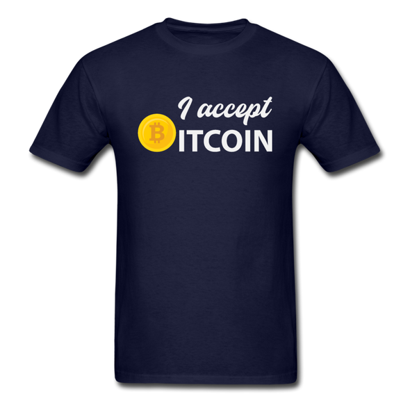 Men's I Accept Bitcoin - navy
