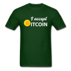 Men's I Accept Bitcoin - forest green