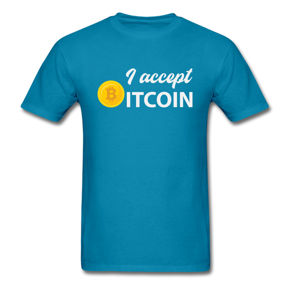 Men's I Accept Bitcoin - turquoise