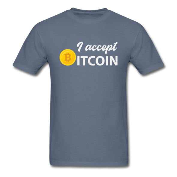 Men's I Accept Bitcoin - denim