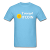 Men's I Accept Bitcoin - aquatic blue