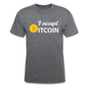 Men's I Accept Bitcoin - mineral charcoal gray