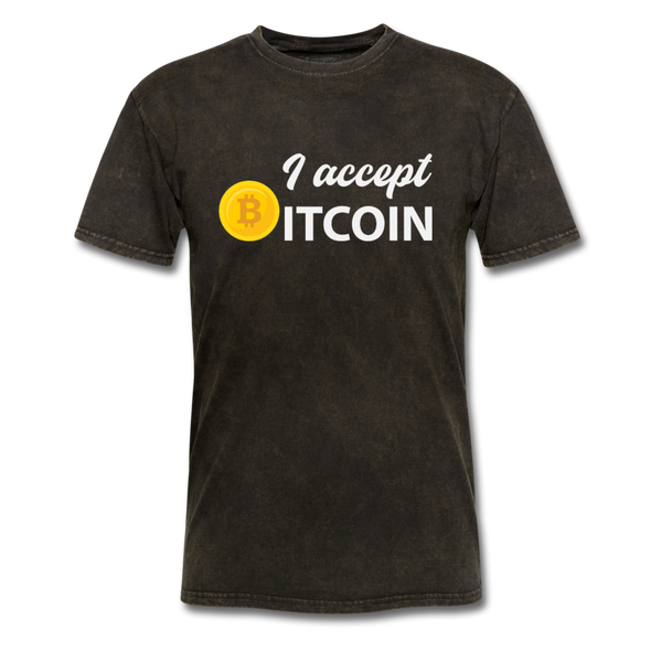 Men's I Accept Bitcoin - mineral black