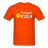 Men's I Accept Bitcoin - orange